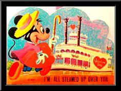 "Disney Valentine Card ""I'm All Steamed Up Over You"""