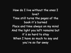 MY SONG GIVEN TO ME! Avenged Sevenfold - So Far Away LYRICS