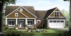 MonsterHousePlans - 2-306 Craftsman Porch, Craftsman Style House Plans, Best House Plans, House Floor Plans, Kitchen Layout Plans, Affordable House Plans, Monster House Plans, Inviting Home, Modern Farmhouse Plans