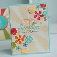 Little Bit Of Sunshine Card by Betsy Veldman for Papertrey Ink (June 2012)