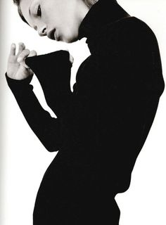 black turtleneck ... kate moss in calvin klein