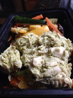 Pesto Chicken with Bell Pepper and Julienne Vegetables Stuffed Bell Peppers Chicken, Pesto Chicken, Meals, Recipes, Colorful, Food, Meal, Eten