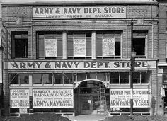 Army and Navy at St. Army & Navy, My Town, Alberta Canada, Back In The Day, Historical Photos, Amazing Places, Places To See, The Good Place, Cool Photos