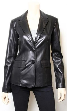 Shoply.com -Best Quality Black Handmade Leather Coat Collar Style. Only $189.99
