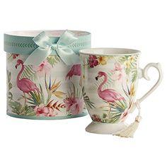 Giftcraft Bone China Tea Mug Teacup In Gift Box Flamingo Https Www Amazon Com Dp B07gctg1kn Ref Cm Sw R Pi Dp U X V88wcb With Images Bone China Tea Tea Mugs Tea Cups