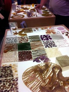 """Light plays a very important part in our lives. The whole gamut of colours can be changed by light."" Yuri Lijubimov, The Hundred Languages of Children, Reggio Emilia -Photo at the Reflections booth at the NAEYC conference. Exploring natural materials on a beautiful lightbox is magical. www.reflectionslightboxes.com"
