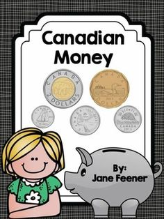 Canadian Money activities and posters Counting In 5s, Counting Money, Money Activities, Counting Activities, Teacher Pay Teachers, Teacher Resources, Teaching Money, Money Pictures, Canadian Coins