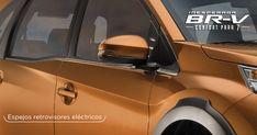 Sus manijas de apertura y espejos retrovisores eléctricos al color de automóvil con luces direccionales* hacen que BR-V tenga un estilo único. #InesperadaBRV