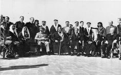 Winston Churchill's meeting with King 'Abd al-'Aziz Ibn Saud at Auberge due Lac, Fayoum,