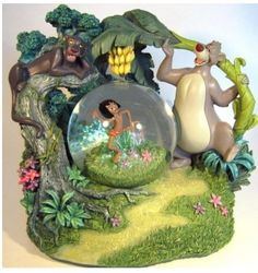 Disney Jungle Book 40th Anniversary Musical Snowglobe Limited Edition