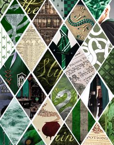 Slytherin collage  --  Slytherin - sleek, subtle, and deadly as the Serpent