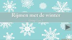 www.juf-lisanne.nl Digibordles groep 1-2 rijmen in winterthema.