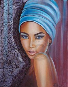 Métisse - Peinture ©2012 par Nathalie Armand -            métisse femme