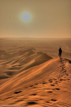 A Sand Dunes Sunset in Peru.