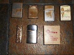 #Lots of Six #Vintage #Cigarette #Lighters; #ZIPPO, #HILTON, #CONTINENTAL, #RONSON, GUC!