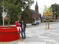 Giant Flowerpot in Streetlife's famous Red @ Axel city centre (NL)