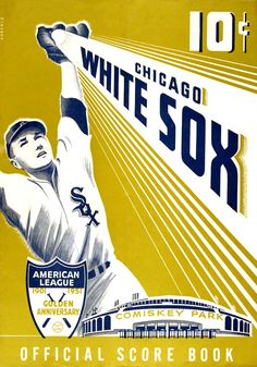 Chicago White Sox 1951 Offical Score Book cover art