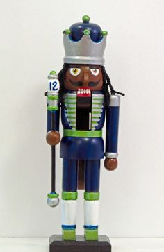 "https://flic.kr/p/zzj7i5 | LOB Nutcracker | One of a few select Seattle Seahawk inspired nutcrackers I am hand painting, embellishing and selling for Christmas at Grassi's Boutique here in University Place, WA.  This one was inspired by the Seahawk's ""Legion of Boom"" and ""Beast Mode"" :-)"