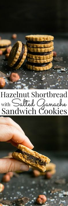 Hazelnuts and chocolate shine in these easy to make shortbread cookies. They make a delightful treat and beautiful homemade gifts | Vanilla And Bean