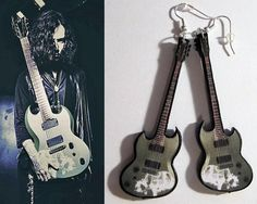 KAORU guitar earrings Die Dir en grey jrock j-rock by nikajon