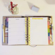 My 2014 Filofax set-up FREE printables  weekly planner A5 custom