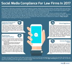 Social Media Compliance For Law Firms and Lawyers. Social Media Compliance is a very important aspect of legal marketing and what you say online could make or break your case. https://help-lawyer.com/blog/social-media-compliance-for-law-firms-90