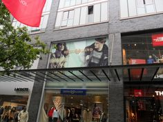 Our new graphics on the Henri Lloyd Liverpool store