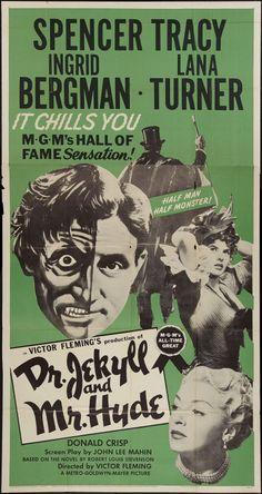 Dr. Jekyll and Mr. Hyde (1954) starring Spencer Tracy, Ingrid Bergman & Lana Turner