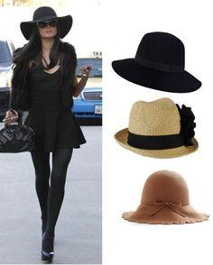 sombreros acorde a forma de la cara y estatura: