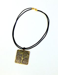 Minimalist Gold Pendant Necklace Tree of by ShamelessStatements