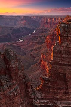 The Colorado River viewed from the rim of Grand Canyon National Park.