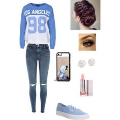 Cute outfit for school 4 by nikki-bivins on Polyvore featuring polyvore, fashion, style, Sally&Circle, River Island, Vans, Blue Nile and Disney