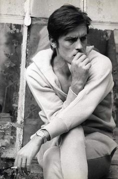 alain delon | Tumblr on We Heart It - http://weheartit.com/entry/59054104/via/briggitebardot1     Hearted from: http://suddenbuebell1.tumblr.com/post/48356445788