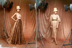 modern, retro, hats, dresses all meshed into one