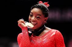 American Gymnast Simone Biles Just Made History At The World Championships Note: There is no sound on the video at the end of this article.