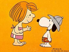 Peppermint Patty & Snoopy