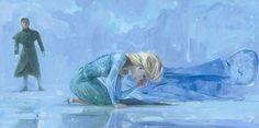 Zzz Rodel Gonzalez Cold Winters Day From The Movie Frozen Premiere Edition Disney Art Frozen Fan Art, Frozen Film, Disney Frozen, Elsa Frozen, Disney Magic, Jennifer Lee, Godard Art, Disney Fine Art, Animation