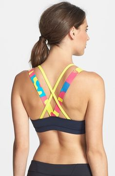 double strap colorful sports bra