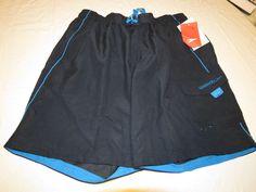 Men's swim trunks shorts Speedo watershorts 422 navy blue 7840260 L large NEW #Speedo #swimshorts
