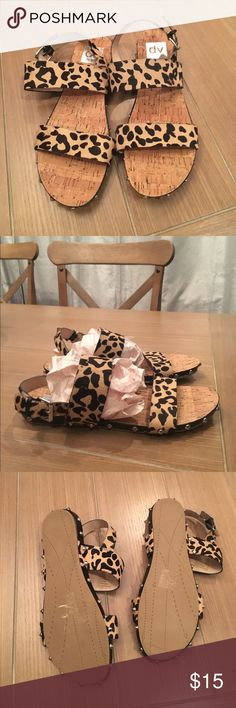 Animal print Dolce Vita Calf Hair Sandals Sz 8 Animal print Dolce Vita Calf Hair Sandals Sz 8! Never worn without tag. Has studs around bottom. Bundle and save 10%! Dolce Vita Shoes Sandals