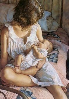 Steve Hanks 'In the Eyes of the Innocent' watercolor Steve Hanks [American watercolor painter b.1949]