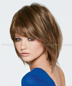 medium+length+hairstyles+for+straight+hair+-+shoulder+length+bob+hairstyle+with+bangs