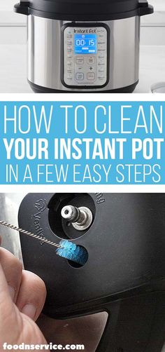 need to get into a routine to clean your Instant Pot to keep your machine running smoothly. If you have Instant Pot problems or issues, it's probably because you didn't clean your Instant Pot properly. This is the best way to have a clean Instant Pot. Clean Eating Recipes For Dinner, Clean Eating Breakfast, Clean Eating Meal Plan, Instant Pot Dinner Recipes, Clean Eating Snacks, Clean Recipes, Instant Pot Pressure Cooker, Pressure Cooker Recipes, Pressure Cooking