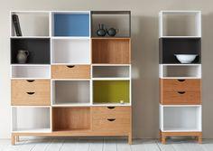 Modular bookcase / contemporary / wooden / lacquered wood VIGO PINCH