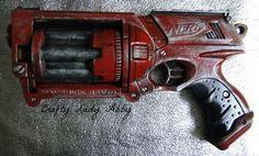 Crafty Lady Abby: LoSP: Paint Modded Nerf Maverick Guns