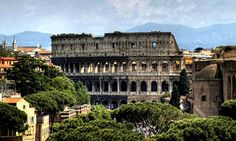 Picture of the Colosseum of Rome in Modern Day Italy. This structure stood as a testament to the power and might of the Roman Empire as it conquered most of the known world with an Empire than stretched from Britannia to North Africa and into Mesopotamia.