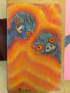 Edward and Edwina the Australian Emus Art Lessons For Kids, Art Lessons Elementary, Australian Art For Kids, Australian Animals, Emu, Aboriginal Art For Kids, Aboriginal Education, Primary School Art, Animal Art Projects