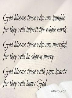 Matthew 5:5-8