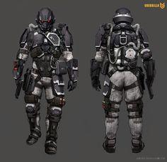 Present+Future — rocketumbl: Killzone Shadow Fall Concept Art Cyberpunk Rpg, Cyberpunk Character, Futuristic Armour, Futuristic Art, Character Concept, Character Art, Character Design, Armor Concept, Concept Art