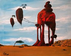 Surrealist Paintings by Spiros Gelekas from Greece.